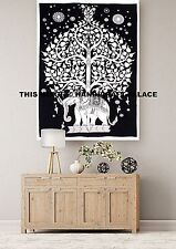 Tree Of Life Elephant Indian Wall Hanging Tapestry Throw Ethnic Poster Decor Art