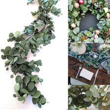 2m Artificial Fake Eucalyptus Garland Long Leaf Plants Greenery Foliage Decor