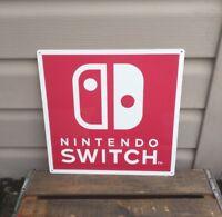 "Nintendo Switch Metal Sign Game Room Advertising  12x12"" 50130"