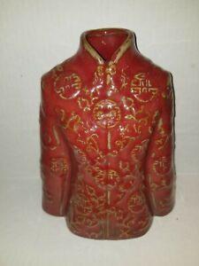 "World Market Red Asian Kimono Vase 8"" Tall"
