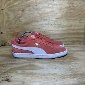 Puma Suede Classic Lace Up Sneaker 355462 60 Shoes, Women's 10, Spiced Coral
