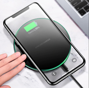 Fast Charging For iPhone 11 XR 8Plus 12 Pro Max Qi Wireless Charger Dock Pad Mat