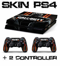 PS4 SKIN CALL OF DUTY BLACK OPS 3 + 2 CONTROLLER  decal sticker playstation 4