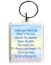 KEY RING/FOB INSPIRATIONAL QUOTES Laugh  Perfect Novelty Gift