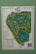 PGA  Michael Bradley BILLY MAYFAIR AUTOGRAPHED 1998 Doral Open Pairing Sheet