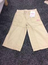 Saltrock 4-5 Years Girls Cream Chino Combat Trousers New With Tags