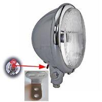 3 LED Bicycle Chrome Bullet Headlamp Headlight Custom Lowrider Chopper 187470