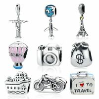 I Love To Travel 925 Sterling Silver Charms Pandora Bracelet Charms Travel Doll