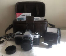 Canon Ae 1 Classic 35mm Film Camera With Flash & Accessories