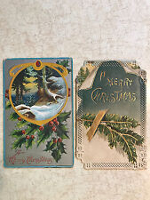 Lot Of 2 A Merry Christmas Post Cards 1- 1912 Both Printed In Germany 1 Posted