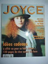 Magazine Revue de mode JOYCE PARIS #61 novembre 1996 idees cadeaux