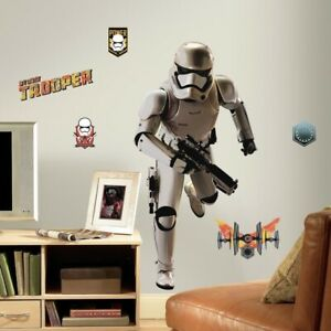 STAR WARS VII THE FORCE AWAKENS STORMTROOPER wall stickers 10 decals MURAL Decor