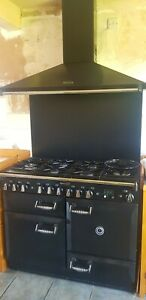 Rangemaster Cooker with double oven/6 rings, splashback and extractor hood