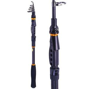 Sougayilang Graphite Carbon Fiber Portable Spinning Telescopic Fishing Rod for