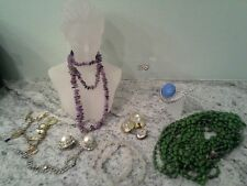 Vintage Jewelry Lot - Amethyst, other natural stone and costume