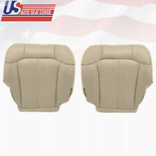 2000 2001 2002 GMC Yukon XL 1500 Driver-Passenger Bottom Leather Seat Cover Tan