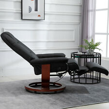 Adjustable Padded Recliner Sofa Relaxing  Lounge Armchair Living Room Black
