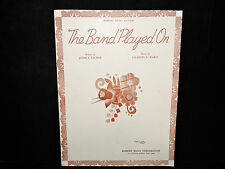 Vintage 1941 Sheet Music The Band Played On Robbins Royal Edition Robbins Music