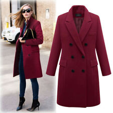 Winter Women's Girl Wool Lapel Long Coat Trench Parka Jacket Overcoat Outwear CA