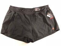 New Fila Sport Women's Plus Size 3x Black Solid Athletic Training Shorts NWT