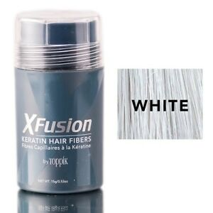 X-Fusion Keratin Hair Fibers White 0.53oz