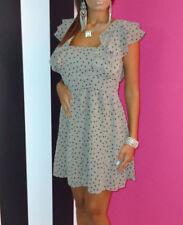 Oasis Ruffle Sleeve Heart Print Tunic Smock Summer Chiffon Lined Dress Size 12