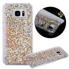 Crystal Sparkle Dynamic Glitter Plastic Case Cover for Samsung Galaxy S7/S6 Edge