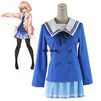 Kyokai No Kanata Kuriyama Mirai School Uniform Sailor Suits Cosplay Costumes