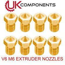 V6 Brass Extruder Nozzle M6 3D Printer - 0.2/0.3/0.4/0.5/0.6/0.8/1.0mm -1.75mm