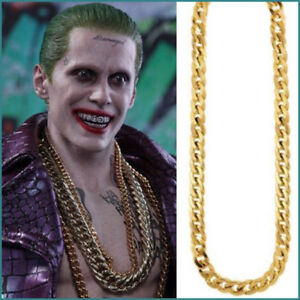 Joker Necklace Suicide Squad Gold Pendant Necklace Chain Cosplay Accessory Metal