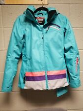 Karbon Ski Snowboard Jacket Women's Size 4 Teal  excellent condition model K4633