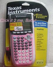 PINK! New! Ti-84 Plus SILVER EDITION Texas Instruments Calculator FREE Shipping!