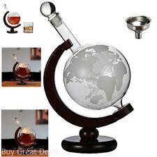 Bourbon Scotch Globe Glass Decanter Set Whiskey Bar Liquor Wine Bottle Stopper