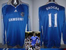Chelsea Drogba L/S Shirt Adidas Jersey Adult XL Football Soccer Ivory Coast Top