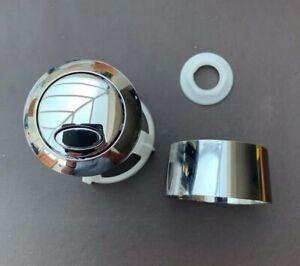 Fluidmaster Chrome Push Button For PRO550 Series c220 Close Coupled Toilet 47mm