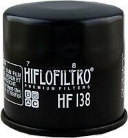 New HiFloFiltro HF138 Black Oil Filter for Aprillia Artic Cat Kymco Suzuki HiFlo