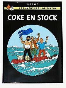 HERGE - TINTIN - Coke en stock. Cuaticomia  48 x 34 cm