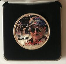 2001 DALE EARNHARDT - 1 Ounce American Silver Eagle - Uncirculated     #1329