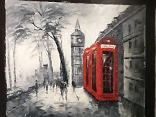 Original Large Oil On Canvas Painting Of London