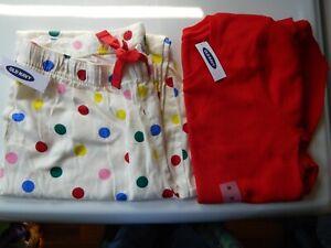 NWT Old Navy Medium Light Flannel Pants and Medium Light Thermal Top Pajama Set