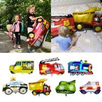 Fire Truck Plane Ambulance Bus Shaped Foil Balloon Children Birthday Party Decor