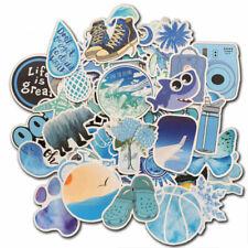 50 Vinyl Blue Vsco Sticker for Water Bottle Laptop Luggage Fridge Decal Pack Lot