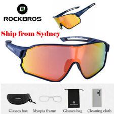 ROCKBROS Polarized Cycling Glasses Sport Sunglasses UV400 Riding Goggles Blue AU