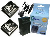 2x Battery +Charger +Car Plug +EU Adapter for Ricoh gr digital iv, gr digital ii