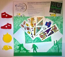 NEW Creative Memories FOOTBALL Combination Pack - Die Cuts, Stickers, Paper