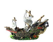 Pirate ship 2 pieces aquarium decoration
