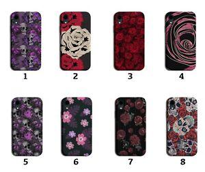 Gothic Roses Phone Case Cover Skulls Skull Rock Flowers Goth Grunge Punk 8154i