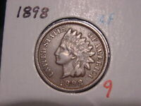1898 INDIAN HEAD CENT XF NICE ATTRACTIVE COIN COMBINED SHIPPING