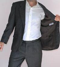 Yves Saint Laurent Vintage Tweed Suit - 38 R/32 W-Gris Cuadros Lana-YSL para hombre