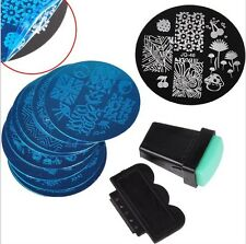 Stamping Platten Nail Art Set Nagel Kunst Schablone Stempel Scraper 23